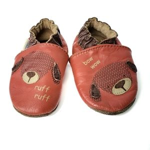 🦩🦩2/$20Robeez Puppy Shoes Slippers 0-6 months
